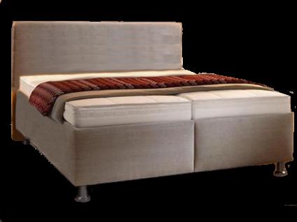 Oschmann Belcanto Fantasio Polsterbett 180x200 cm Liegefläche in beige Bettkasten 101 glatt mit Kopfteil KT 0383 Matratze und Lattenrost