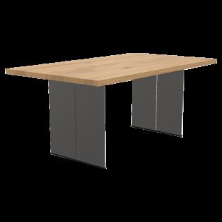 Bert Plantagie Tisch Santiago mit ca. 4 cm starker Massivholzplatte Esstisch ohne Funktion Tischplatten sowie Gestellausführung und Größe wählbar