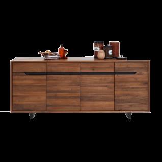 Bodahl Concept 4 you Anrichte Extreme 12711 in Nussbaum teilmassiv mit zwei Schubladen und vier Türen ideal für Ihr Wohnzimmer oder Esszimmer