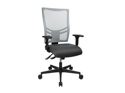 TopStar Linea Comfort Air Drehstuhl mit Sitzhöhenverstellung Sitztiefenverstellung und höhenverstellbaren Armlehnen Bürostuhl mit wählbarem Sitzbezug und Netzrückenlehne mit wählbarer Farbe