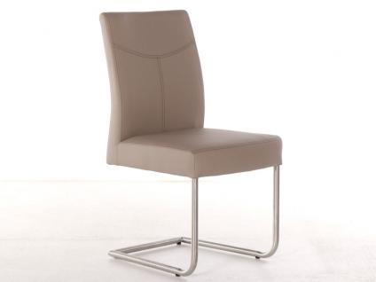 Standard Stuhl Leonie aus dem Stuhlsystem Shake it Polsterstuhl für Esszimmer Gestellausführung und Bezug in Echtleder oder Kunstleder wählbar