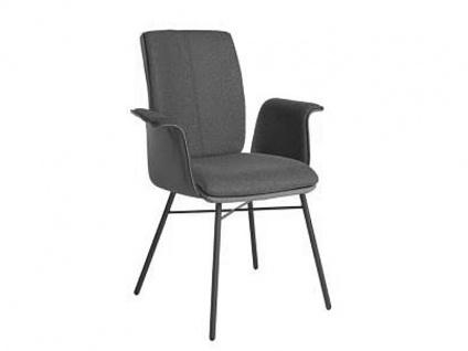 Bert Plantagie Stuhl Tara Four 832C Komfort mit Uni-Mattenpolsterung Polsterstuhl für Esszimmer Esszimmerstuhl mit Armlehnen verschiedene Gestellausführungen und Bezug in Leder oder Stoff wählbar