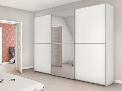 Nolte Attraction Schwebetürenschrank Schlafzimmer Ausführung 2A Kleiderschrank mit Holz-/ Spiegelfront und 3 waagerechte Sprossen Dekor wählbar