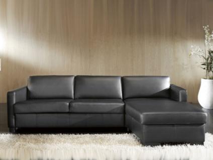 Candy Ecksofa all-round Schlafsofa ideal für Ferienwohnung Polstergarnitur Eckgarnitur Couch für Wohnzimmer Ecksofa mit Longchair Sofa in Bezug Stoff oder Echtleder wählbar