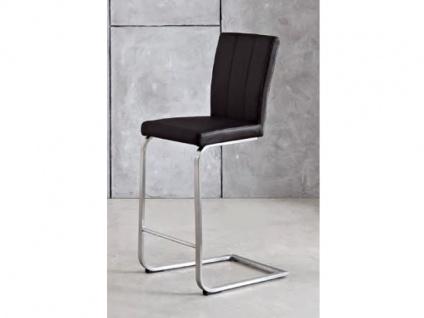 Niehoff Barstuhl TS11 Tresenschwinger mit Sitzhöhe ca. 70 cm für Esszimmer Küche oder Partyraum Schwingstuhl Bezug in Kunstleder Gestell Flachstahl Edelstahl gebürstet