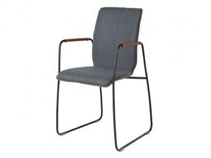 Bert Plantagie Stuhl Tara 821 Schlittengestell Bi-Color-Polsterung Polsterstuhl für Esszimmer Esszimmerstuhl Gestellausführung und Bezug in Leder oder Stoff wählbar
