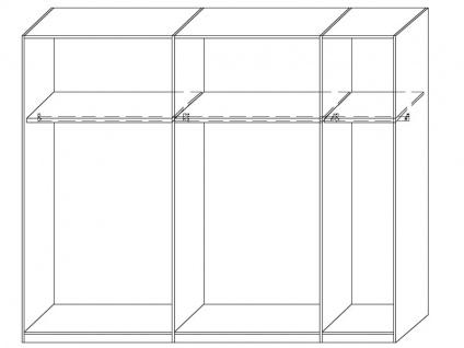 Neue Modular Primolar Venezia 2-türiger Schwebetürenschrank Korpus Dekor weiss Front Glas lackiert schwarz - Vorschau 2