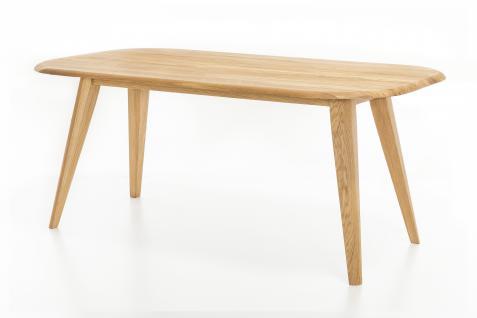 Standard Furniture Esstisch Ohio Gestell 1 Vierfußtisch Rundung Platte oben mit fester Tischplatte oval massiv Tisch für Esszimmer Holzausführung und Größe wählbar