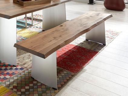 Niehoff Design-Baumbank Tree-Top massiv mit Baumkante Sitzbank für Esstimmer Küche oder Partyraum Holzausführung Größe und Gestell wählbar