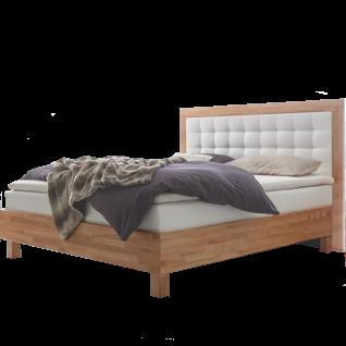 Hasena Fine-Line Moderno-B Bett bestehend aus Bettrahmen Trento 23-B Polsterkopfteil Torino-B mit Massivholzumrandung Massivholzfüße Cantu Liegefläche ca. 180 x 200 cm