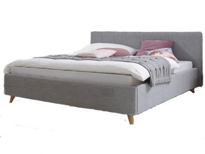 Hasena Dream-Line Bett bestehend aus Bettrahmen Curvo Kopfteil Zibi Füße Masi Liegefläche 180x200 cm optional mit Längstraverse wählbar