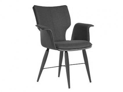 Bert Plantagie Stuhl Joni Cross Komfort 736C mit Uni-Mattenpolsterung Polsterstuhl für Esszimmer Speisezimmerstuhl mit Armlehnen Gestellausführung Naht Reißverschlußfarbe und Bezug wählbar