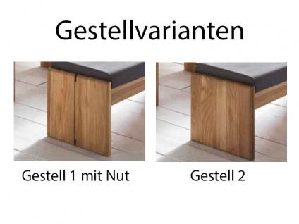 Standard Furniture Truhenbanksystem Stockholm Sitzbank mit oder ohne Rückenlehne wählbar Massivholz in 3 Holzausführungen Größe und Bezug wählbar Bank für Ihr Esszimmer oder Gaderobe - Vorschau 5
