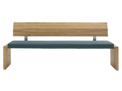 Wimmer Einzelbank Sano mit Rückenlehne und fest gepolstertem Sitz Ausführung Länge Bezug und Rückenpolsterung wählbar Bank für Ihr Esszimmer oder Ihre Küche