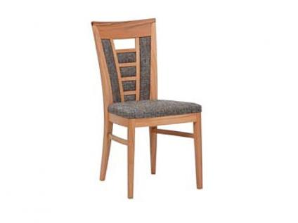 Dkk Klose Kollektion Polsterstuhl S11 mit Sitzpolster und gepolstertem Rücken für Küche Wohnzimmer oder Speisezimmer zahlreiche Holzausführungen und Bezüge Leder oder Textil wählbar