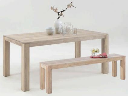 Elfo-Möbel Sitzbank 5499 in Wildeiche massiv Sonoma Holzbank ca. 160 cm breit ohne Lehne für Speisezimmer oder Wohnzimmer - Vorschau 2