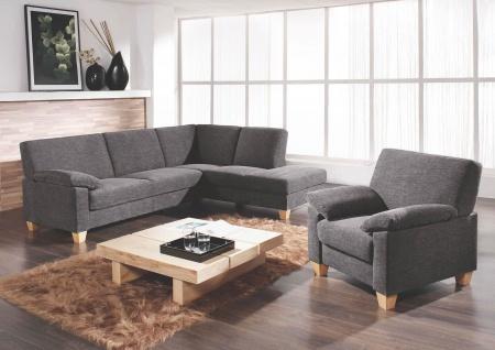 Ewald Schillig Florenz Ecksofa Sofa 3 Sitzer Armlehne + Anbausofa mit festem Hocker + Sessel für Wohnzimmer in Stoff oder Leder wählbar