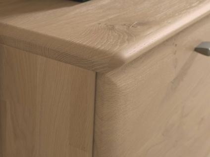 Wöstmann Bari 3000 Sideboard 2841 mit 3 Schubkästen und 1 Auszug sowie 4 Türen in Europäischer Wildeiche Massivholz soft gebürstet - Vorschau 3