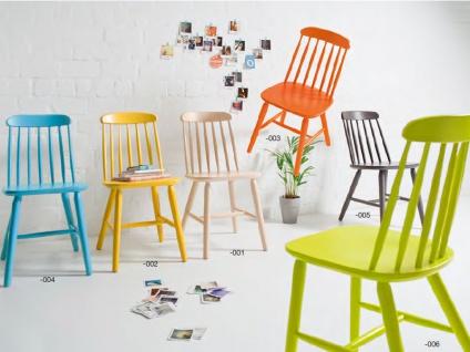 Niehoff Stuhl Shaker 2041 2er-Set Holzstuhl mit Sprossenrückwand und Sitzfläche aus Massivholz Buche Stuhl für Esszimmer oder Wohnzimmer Farbe wählbar