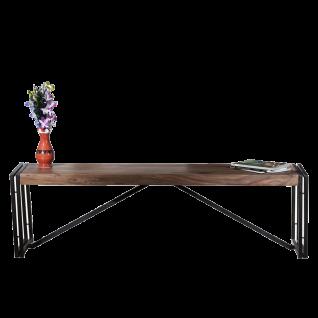 Sit Möbel PANAMA Sitzbank aus Shesham Holz mit Metallbeinen schwarz