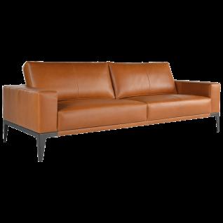 Bert Plantagie Sofa Renio mit durchgehenden Armlehnen sowie steifen Rückenteilen Bezug in Stoff oder Leder und Größe wählbar