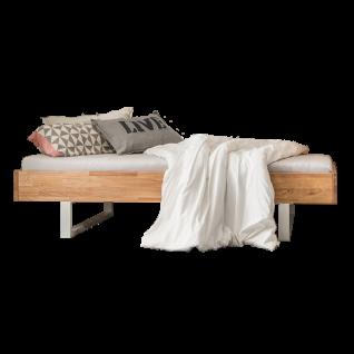 Skalik Meble Mido Jugendzimmer Bett Front und Korpus Eiche Massivholz Farbe wählbar Metallfüße Farbe wählbar