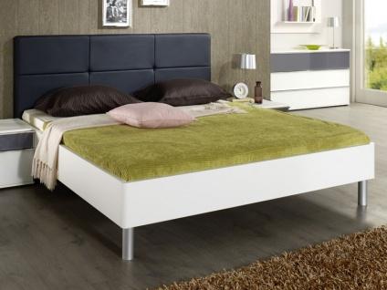 Nolte Elino Bett Doppelbett 1 gerundet mit Polster-Rückenlehne in Leder-Nachbildung in verschieden Größen