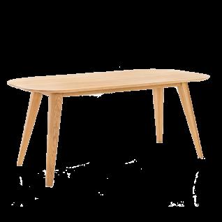 Standard Furniture Esstisch Ottawa mit ovaler Tischplatte in Eiche natur Vierfußtisch aus Massivholz in 3 Größen wählbar
