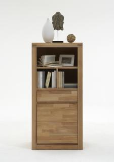 ELFO Regal DELFT mit 1 Schubkasten 1 Tür und 3 offenen Fächern in Holz Kernbuche Beimöbel Art.Nr. 6206 für Wohnzimmer oder Schlafzimmer