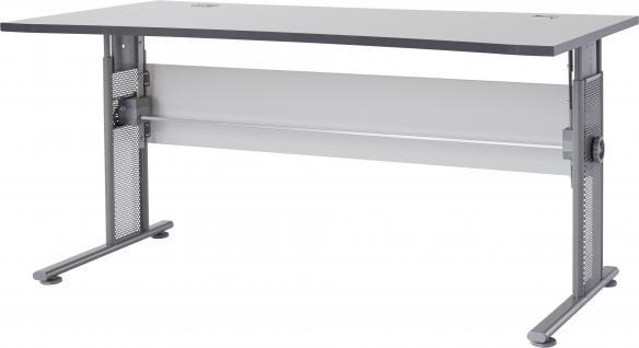 Germania Schreibtisch PROFI in 3 verschiedenen Farbvarianten, höhenverstellbar, mit Kabeldurchführung, für Homeoffice oder Büro - Vorschau 5