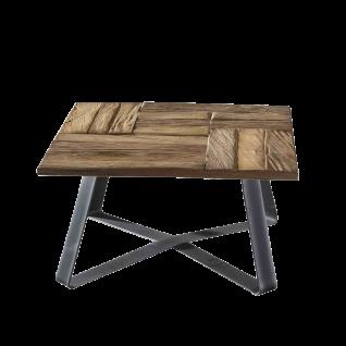 Sit Möbel ROMANTEAKA Couchtisch mit Teakholzplatte Gestell schwarz