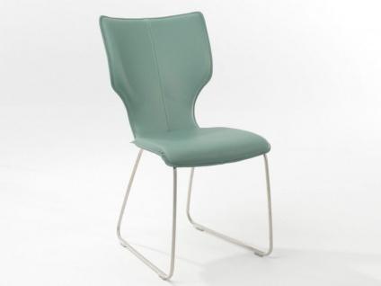 Bert Plantagie Stuhl Joni 711 Schlittengestell Bi-Color-Polsterung Polsterstuhl für Esszimmer Esszimmerstuhl Gestellausführung und Bezug in Leder oder Stoff wählbar