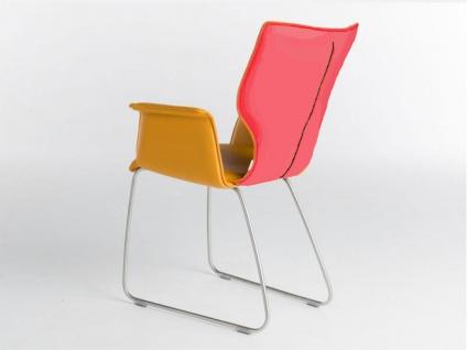 Bert Plantagie Stuhl Joni 731 Schlittengestell Bi-Color-Polsterung Polsterstuhl für Esszimmer Esszimmerstuhl Gestellausführung und Bezug in Leder oder Stoff wählbar