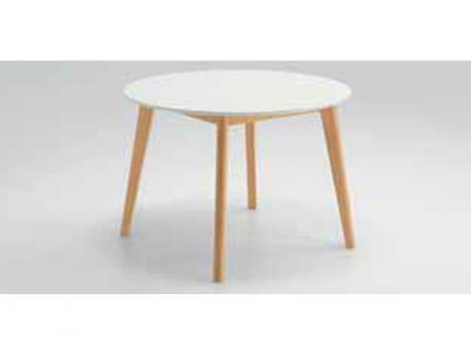 Niehoff New Young Collection Tisch Soho 4633 aus der Young Collection rund mit fester Platte Holzausführung wählbar