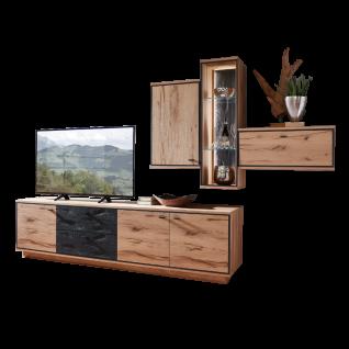 Schröder Kitzalm-Alpenglück originelle Kombination K002 mit Korpus und Front in Salzkammergut Alteiche natur gebürstet ideal für Ihr Wohnzimmer