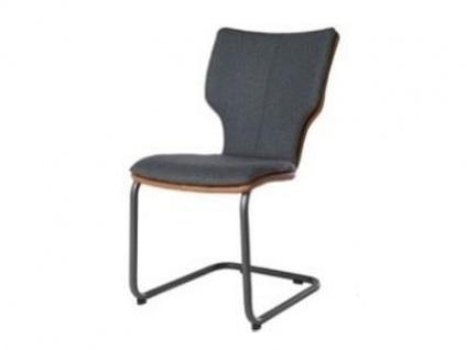 Bert Plantagie Stuhl Joni Freischwinger Komfort 714C oder 717C mit Bi-Color-Mattenpolsterung Polsterstuhl für Esszimmer Esszimmerstuhl Gestellform Gestellausführung und Bezug in Leder oder Stoff wählbar