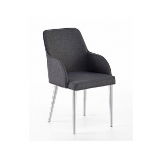 MCA furniture Elara ECV4E31GX 4-Fuß Stuhl 2er-Set erhältlich mit Bezug Feingewebe grau Gestell Rundrohr konisch zulaufend Polsterstuhl für Ihr Esszimmer