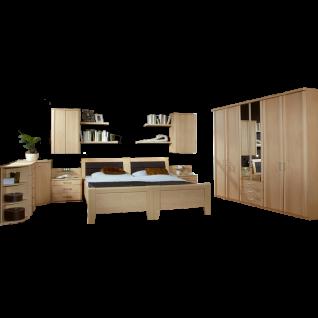 Wiemann Luxor 3&4 Schlafzimmer 2 Komfortbetten Drehtürenschrank 2 Nachtschränke Beimöbel 2 Hängeschränke Wandboards Farbausführung wählbar