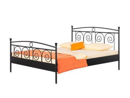 Neue Modular Punto Roma Bett aus Metall in schwarz matt lackiert Liegefläche ca. 180x200 cm optional mit passenden Nachttischen Roma