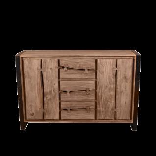 Sit Möbel LIVE EDGE Sideboard aus Akazienholz Gestell Metall im Industrie Stil