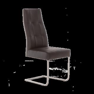 Standard Furniture Stuhl Henry 2 Schwingstuhl mit Edelstahl-Rundrohr-Gestell für Wohnzimmer oder Esszimmer Bezug in Kunstleder wählbar