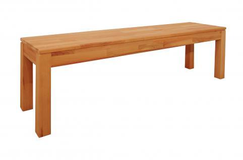 Elfo-Möbel Sitzbank 6834 ca. 140 cm in Kernbuche Massivholz geölt stabverleimt mit gedeckter Platte für Esszimmer