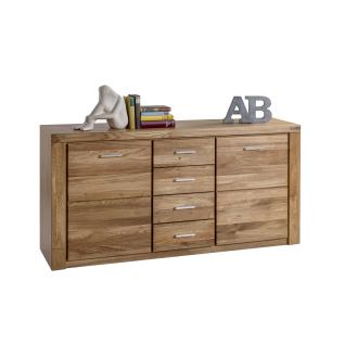 Elfo Tabea Sideboard 2336 in Wildeiche teilmassiv mit 2 Holztüren 4 Schubkästen Kommode mit Fronten aus Massivholz geölt für Ihr Wohnzimmer Esszimmer oder Schlafzimmer ***am Lager***