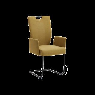 Niehoff Schwingstuhl Dillan 3061 mit Griff und wählbaren Bezügen und einem Gestell aus schwarzem Eisen fur Ihren Wohn- und Essbereich