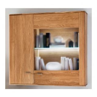 Standard Furniture Kopenhagen Hängevitrine breit rechts Massivholz Kernbuche geölt, Eiche natur geölt und Eiche bianco geölt ideal für Ihr Wohnzimmer oder Esszimmer