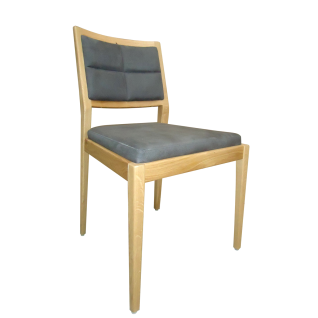 DKK Klose S55 Stuhl 551 Rückenlehne gepolstert mit Holzrahmen und gepolstertem Sitz Polsterstuhl für Esszimmer Gestell in Kernbuche Massivholz Variante mit oder ohne Armlehnen und Bezug wählbar