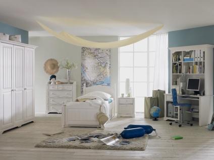 Schlafkontor Cinderella Premium Jugendzimmer Kinderzimmer 3-teilig Kleiderschrank 3-türig Bett Liegefläche 90x200 cm Schreibtisch Kiefer teilmassiv optional mit Beimöbeln