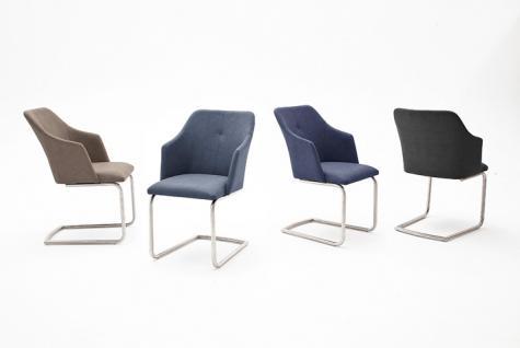 MCA furniture Schwingstuhl Madita Ausführung B Sitzschale mit Armlehne Kunstlederbezug Argentina Farbe wählbar 2er Set