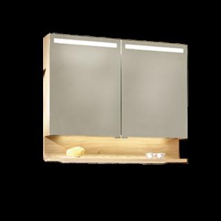 Voglauer V-Quell Badezimmer-Einrichtung Spiegelschrank mit Ablage Korpus und Front Alteiche rustiko echtholzfurniert