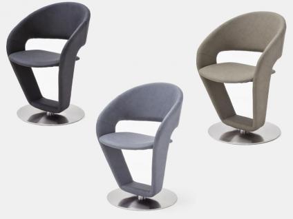 MCA Furniture FIEG19_ Firona Drehbarer Stuhl 2er Set Bezug PU Argentina Für  Ihr Esszimmer Und Wohnzimmer